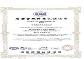 质量管理体系认证证书2015版